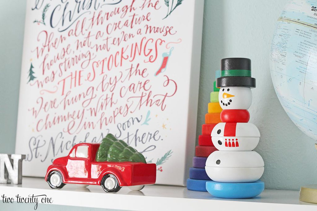 snowman stacker by Melissa and Doug