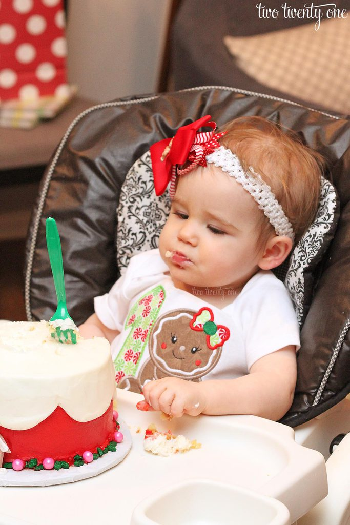 Gingerbread first birthday party! Perfect for a December birthday!