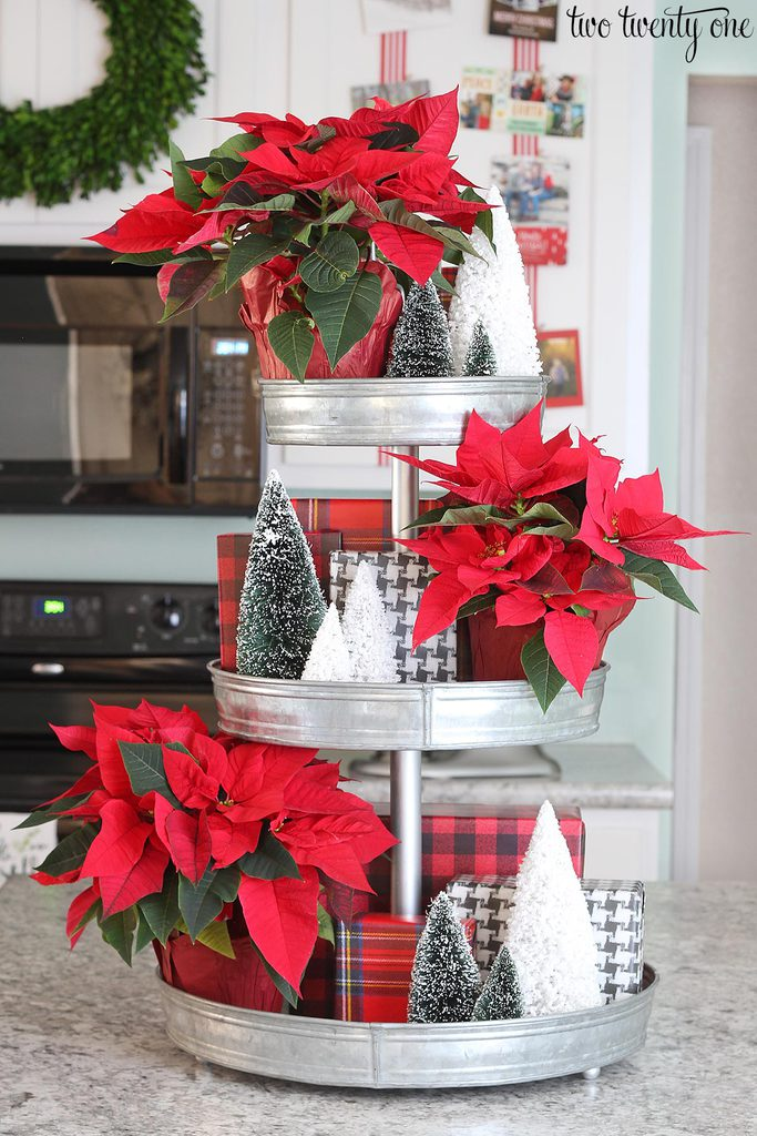 tiered-metal-tray-decorated-for-christmas