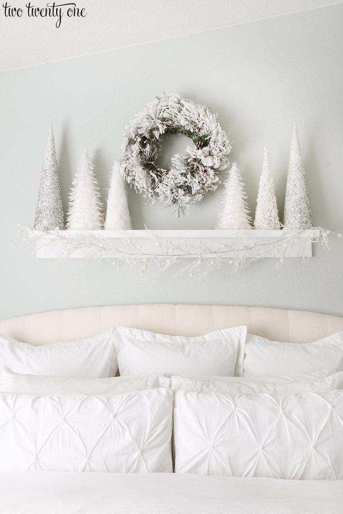 Master bedroom decorated for Christmas!