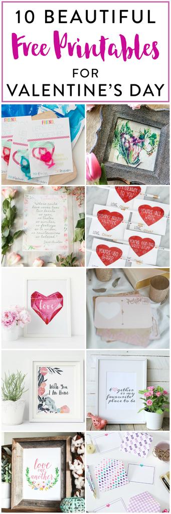 10 FREE Valentine's Day Printables!