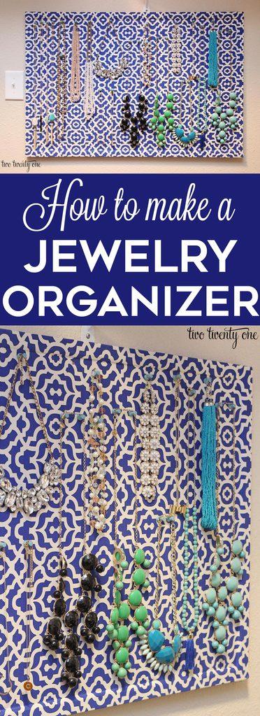 How to make a DIY jewelry organizer!