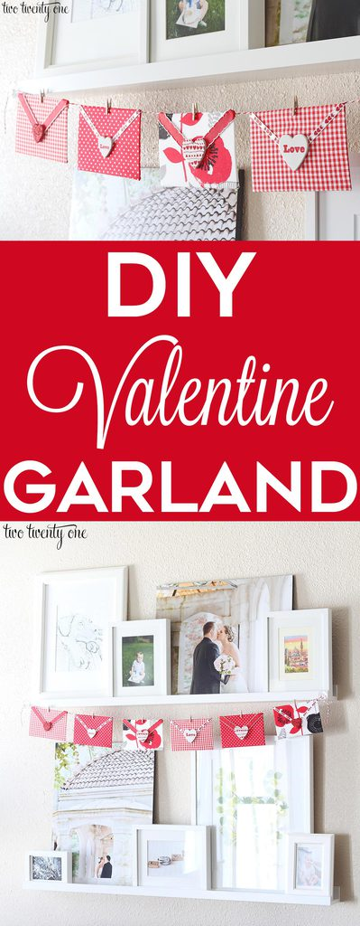 DIY Valentine Garland! Perfect Valentine's Day decoration without breaking the bank!