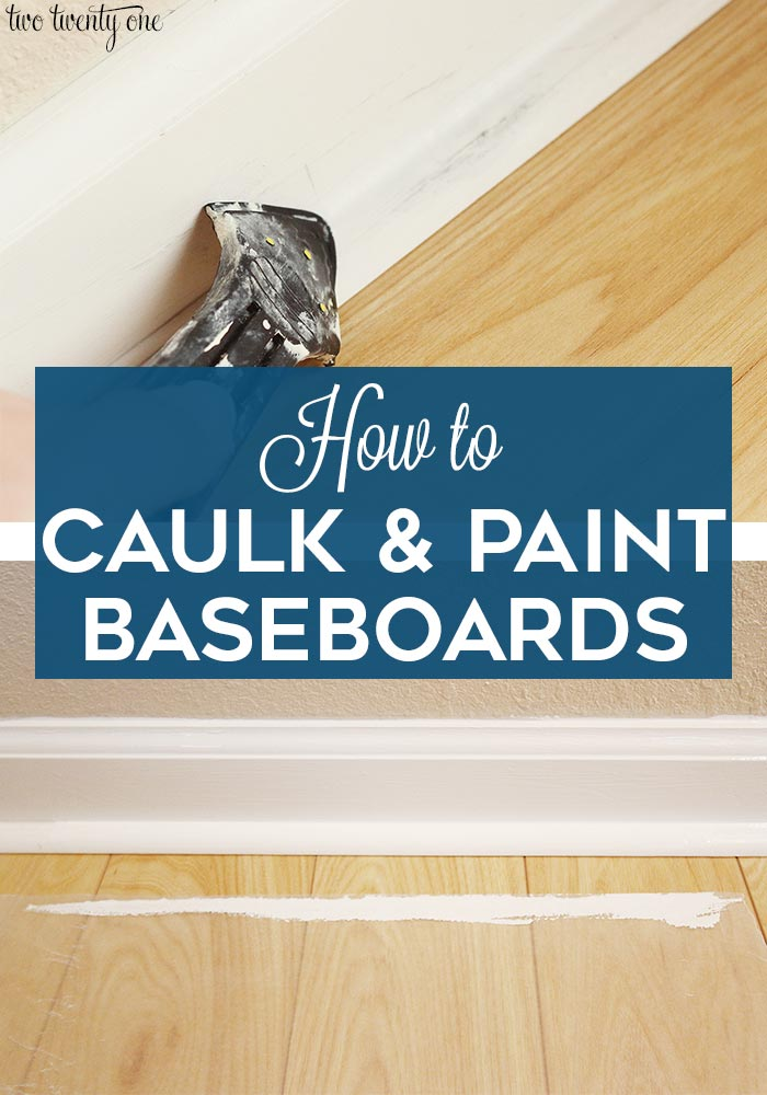 How to caulk and paint baseboards
