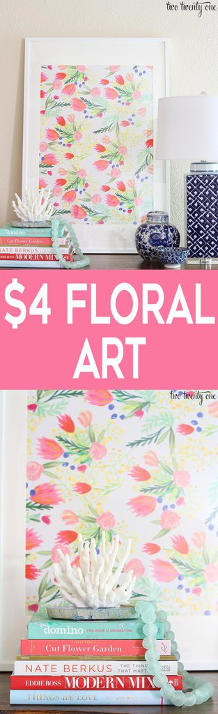 Budget-friendly floral art! Only $4!