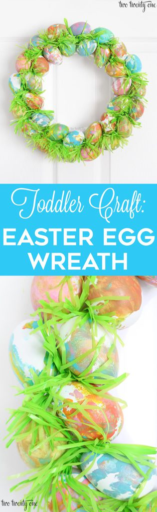 Toddler Craft: Painted Easter Egg Wreath