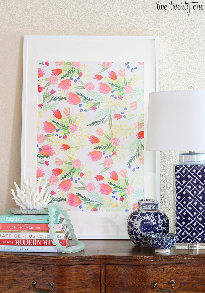 Inexpensive Artwork $4 floral art
