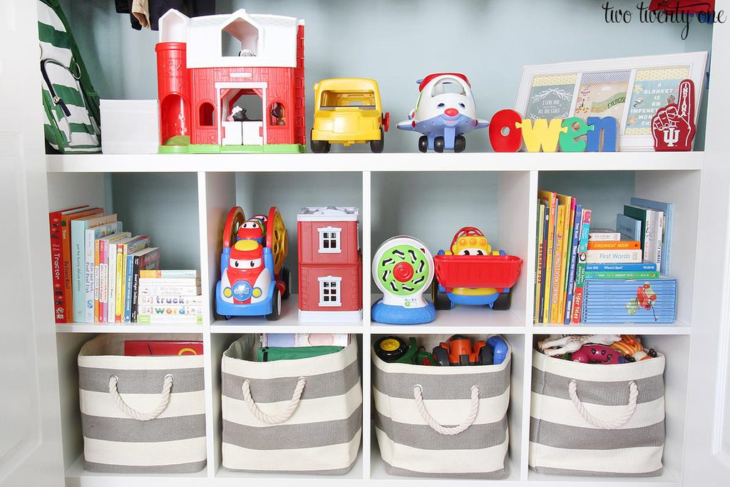 This Organized Toddler Closet Features Storage For Clothing, Toys, Books,  Diapers, And