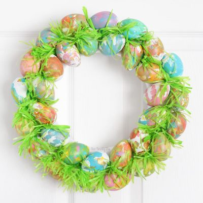 Toddler Craft: Easter Egg Wreath