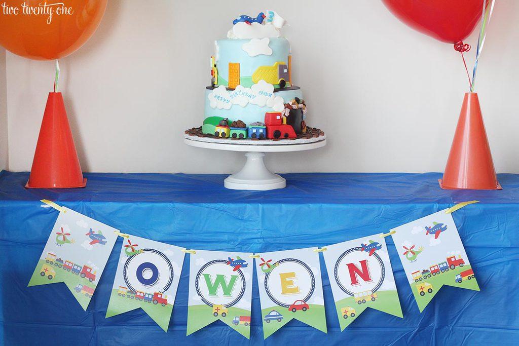 Transportation Birthday Party 2g