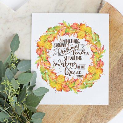 Autumn Leaves Printable