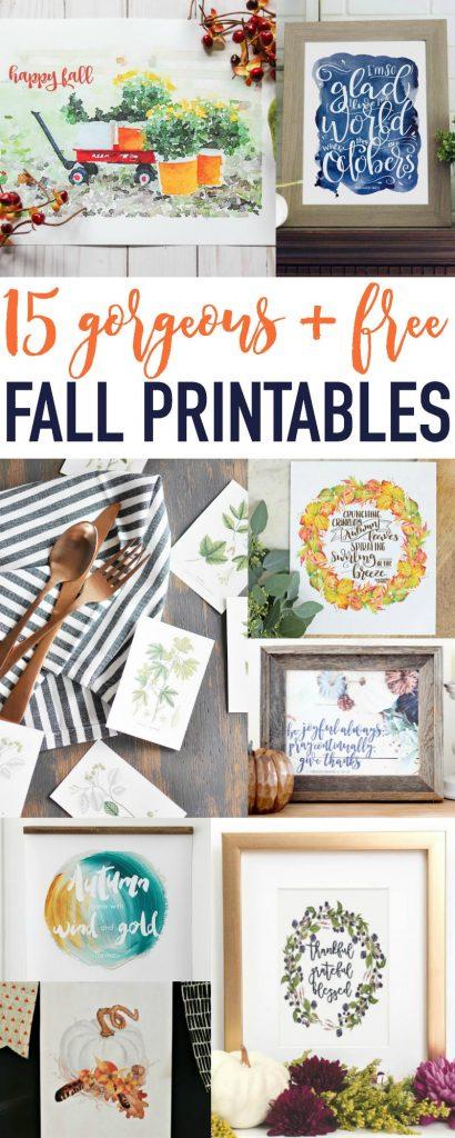 15+ FREE Fall Printables!