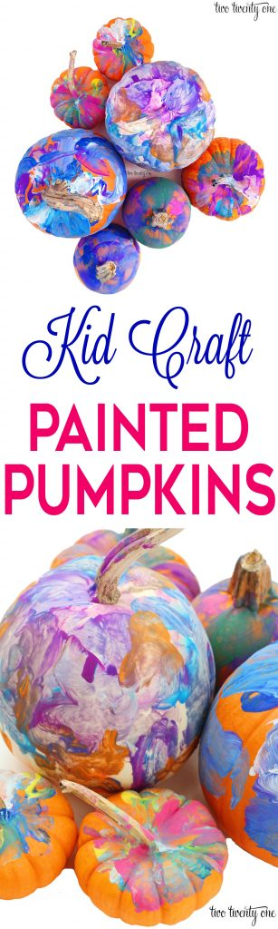 Kid Craft: Painted Pumpkins! Great fall activity!