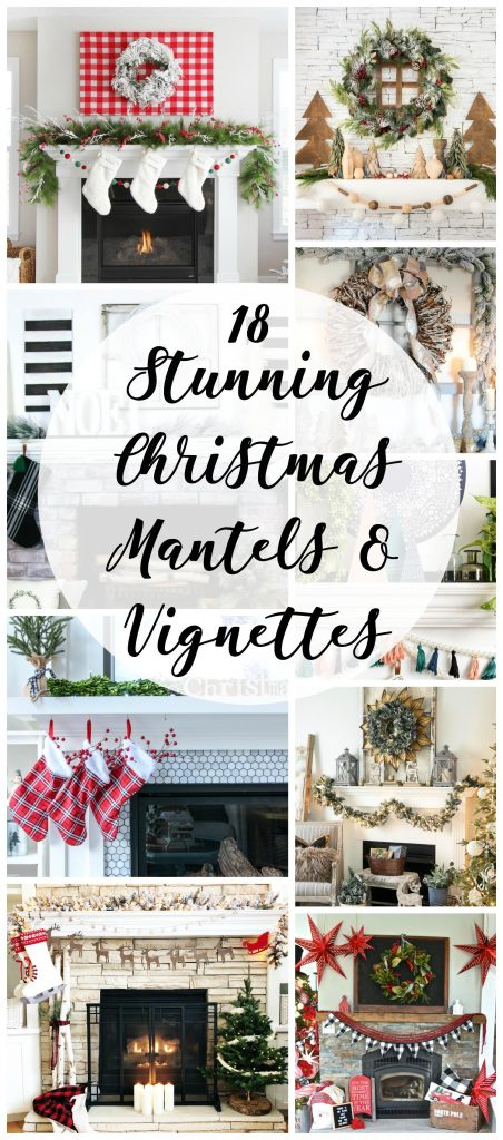 18 Christmas Mantels and Vignettes
