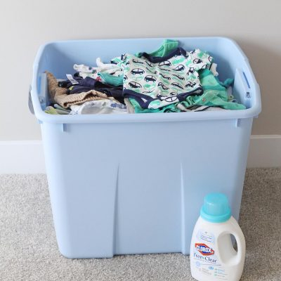 Baby Clothes Prep & Organization