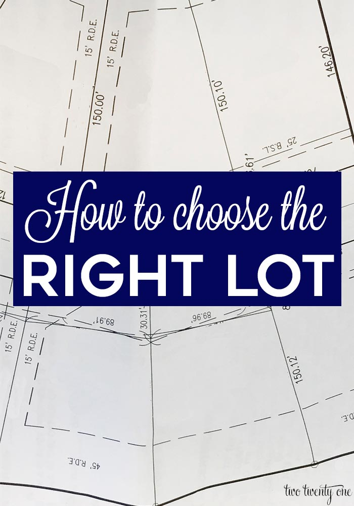 How to choose the right lot