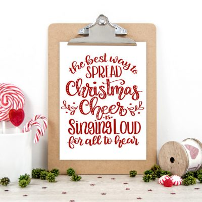 Spread Christmas Cheer Printable