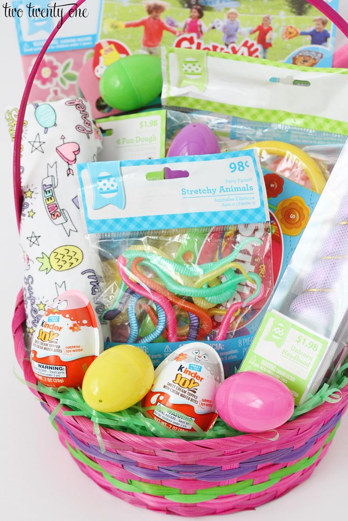Easter basket ideas for toddlers whether near or far if youre traveling with your easter basket you can wrap it in cellophane to keep things from falling out negle Image collections