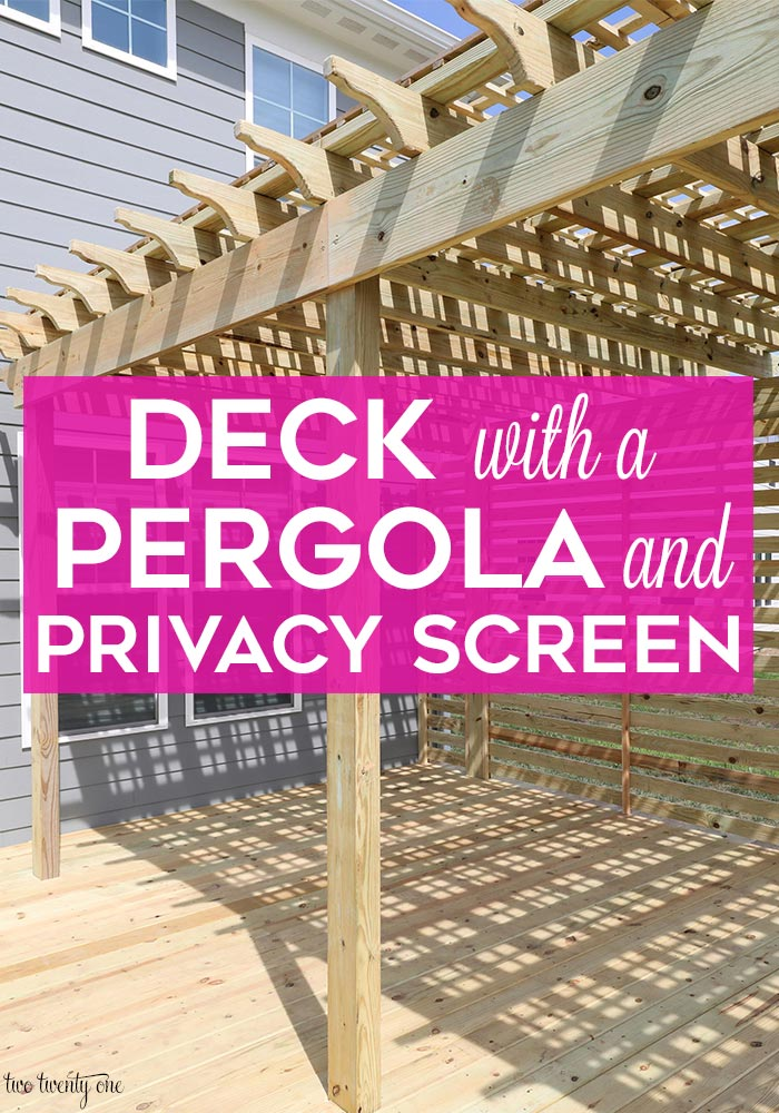 Deck with pergola and privacy screen