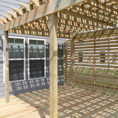 Deck with Pergola Reveal