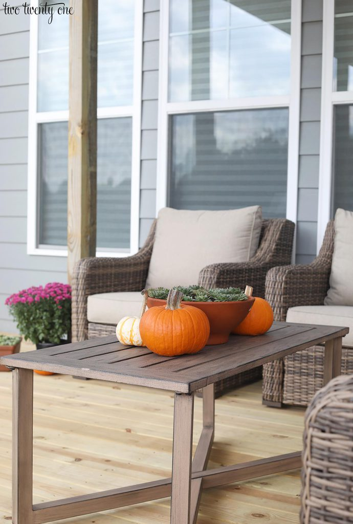 autumn deck decor
