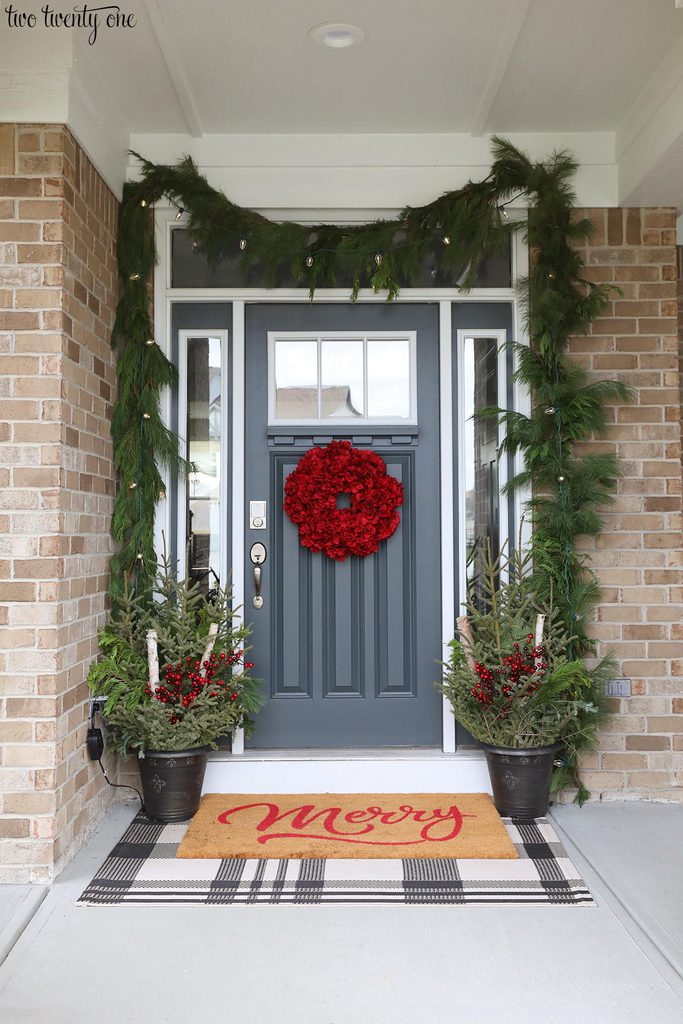 Christmas planters for front porch