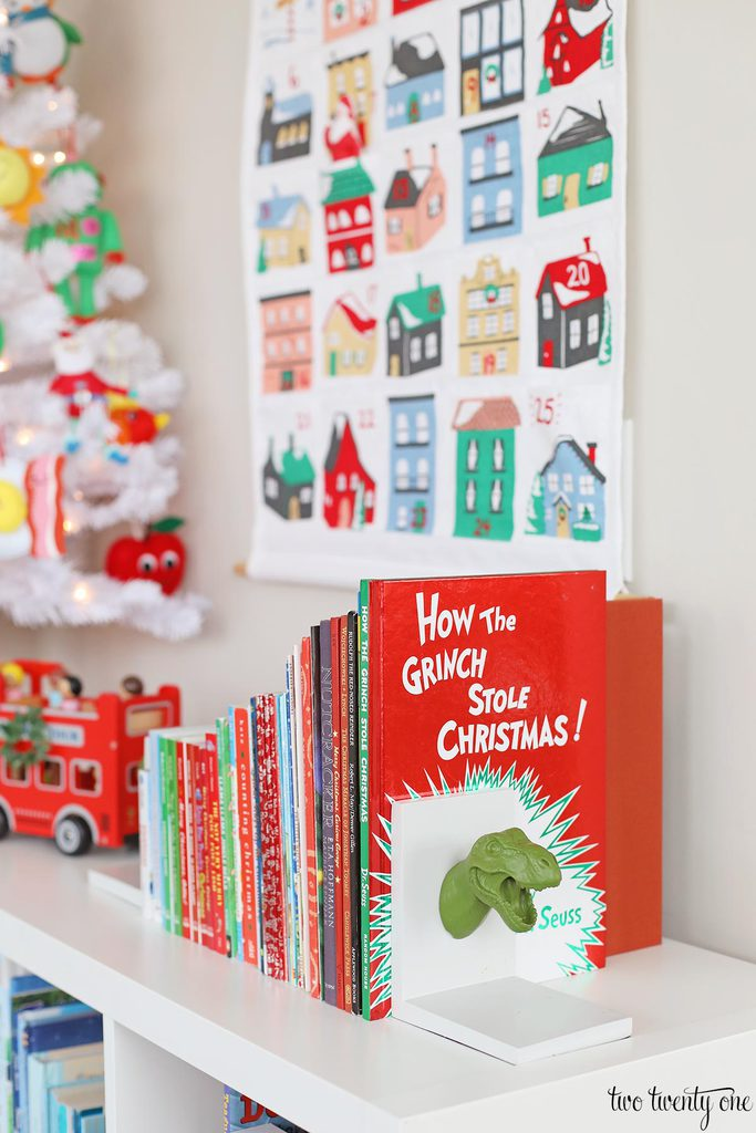 displayed christmas books