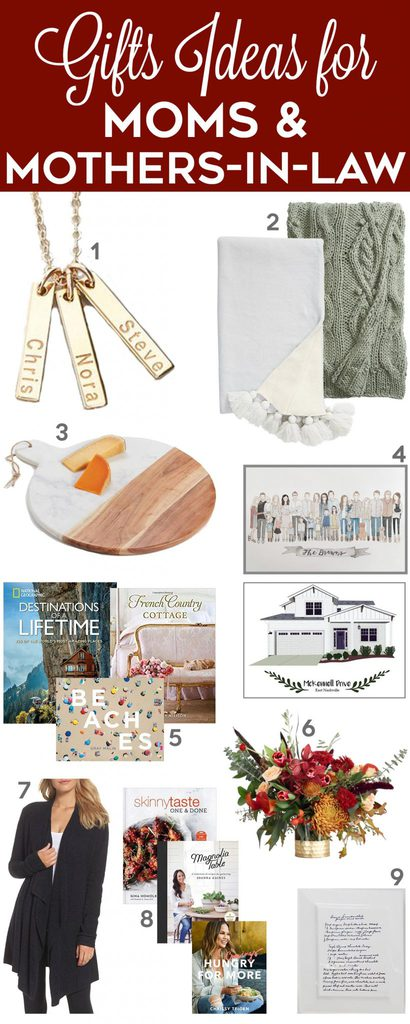 Gift ideas for moms and mothers-in-law!