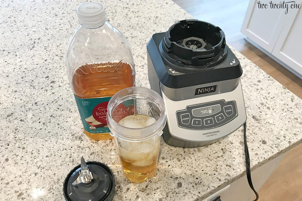apple juice slushie