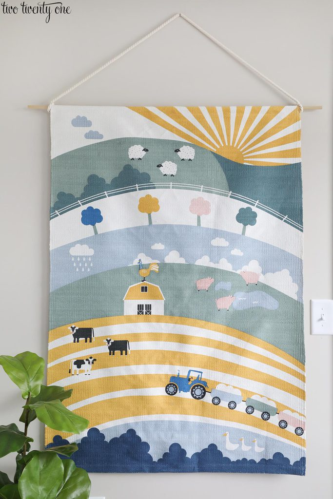 large nursery wall art