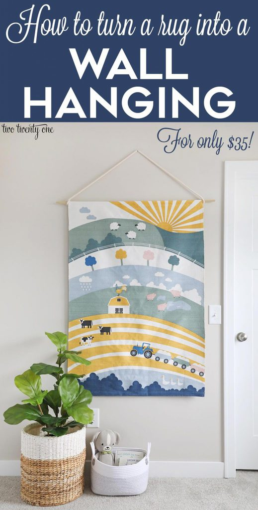 How to turn a rug into a wall hanging!