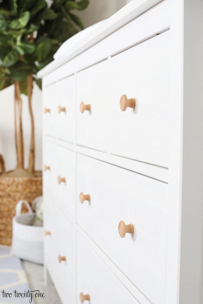 white IKEA Hemnes dresser