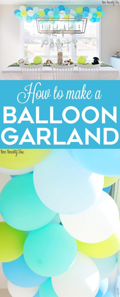 How to make a balloon garland! Great steo-by-step tutorial!