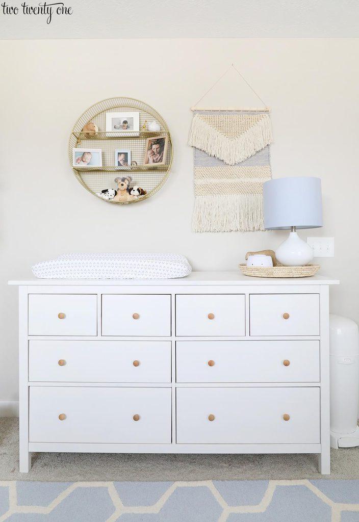 IKEA Hemnes dresser in nursery