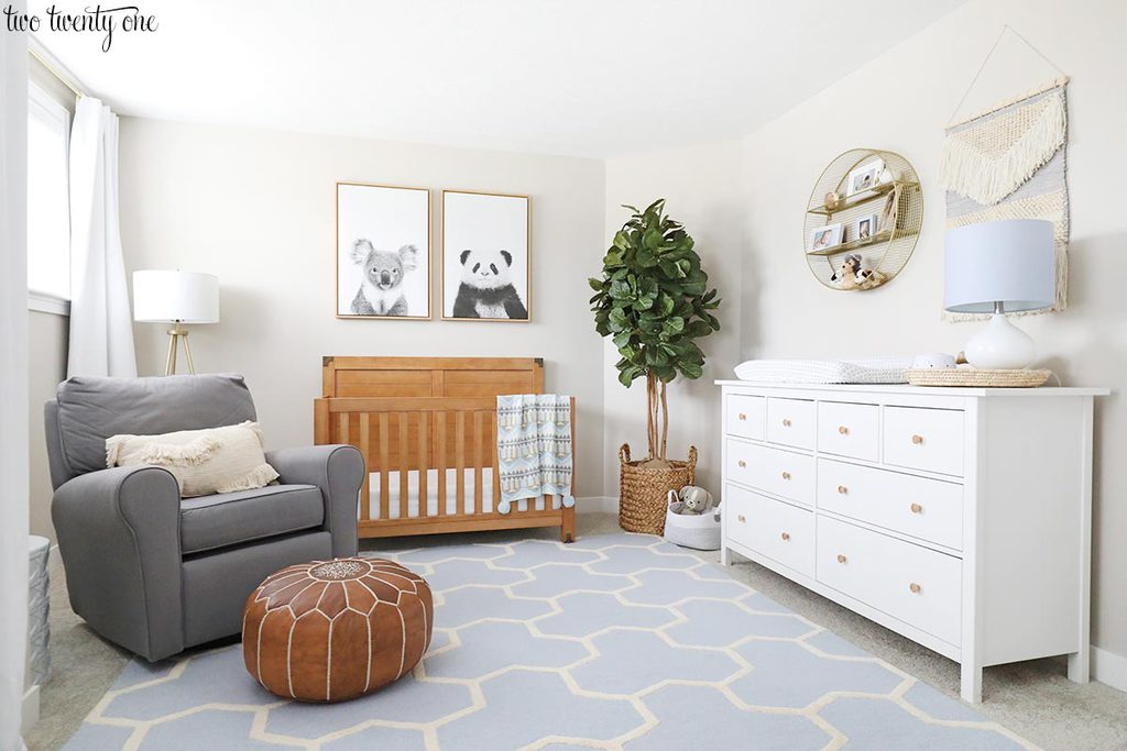 light blue baby boy nursery