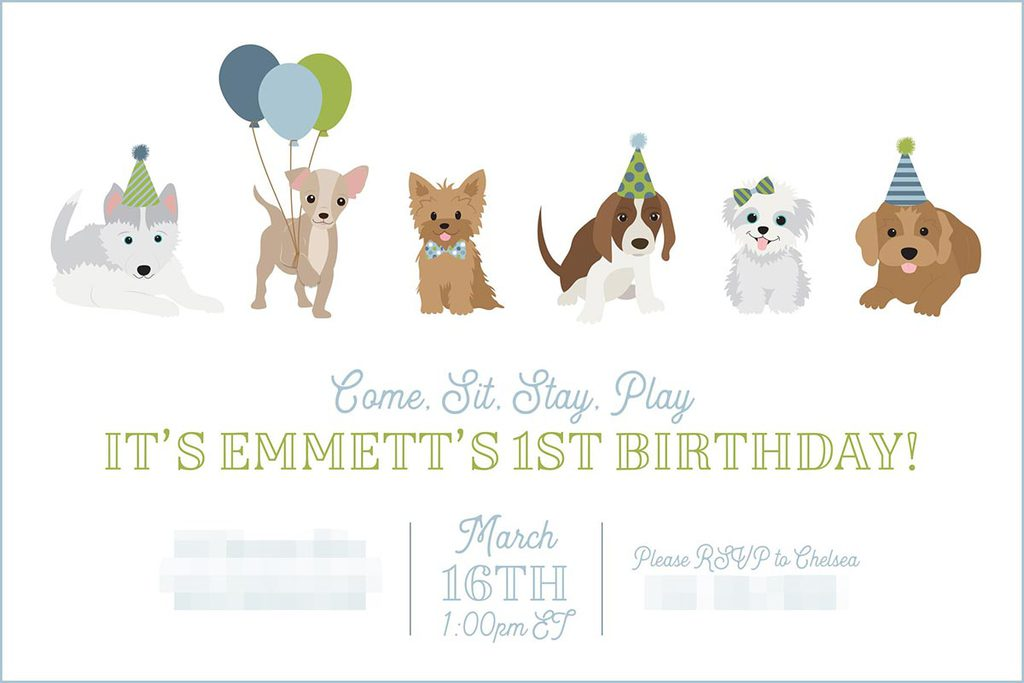 Puppy Birthday Party Invitation