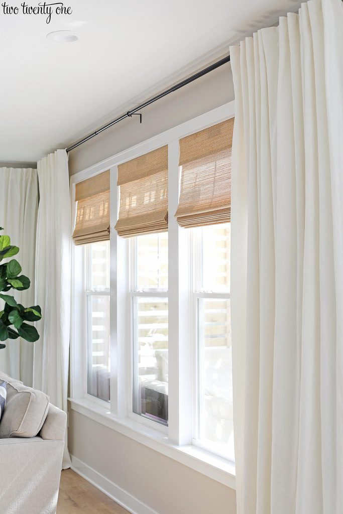 Budget Friendly Living Room Window Treatments