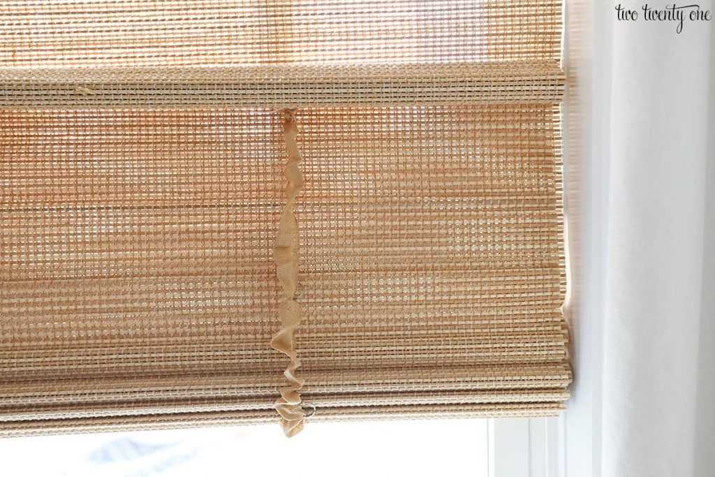 cordless woven shade