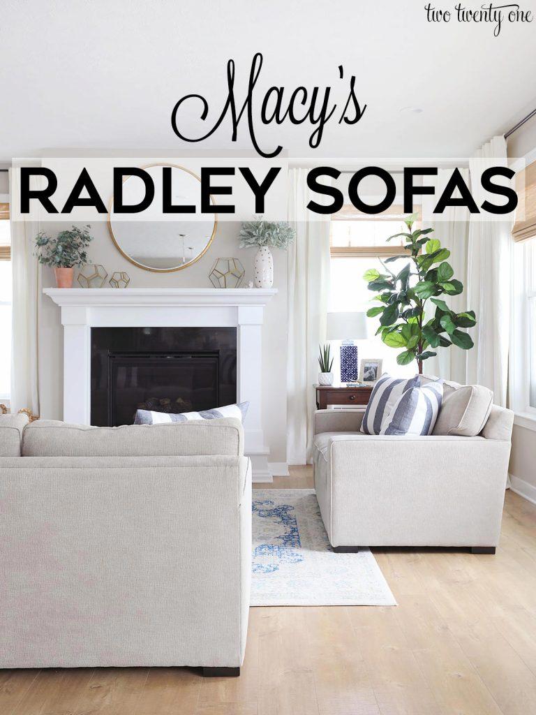 Macy's Radley sofas