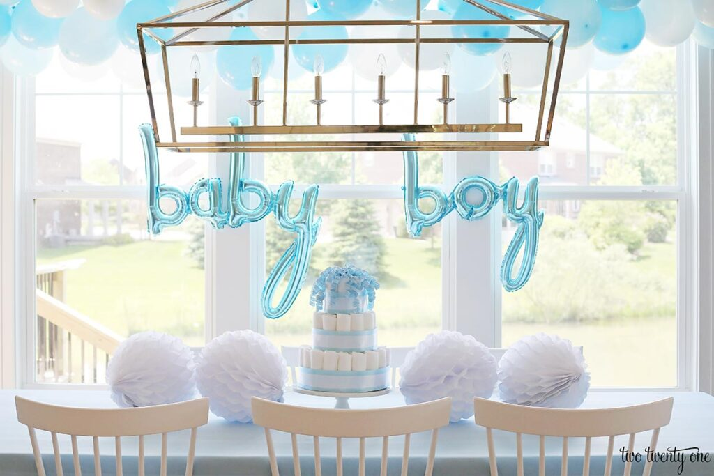 boy baby shower decorations