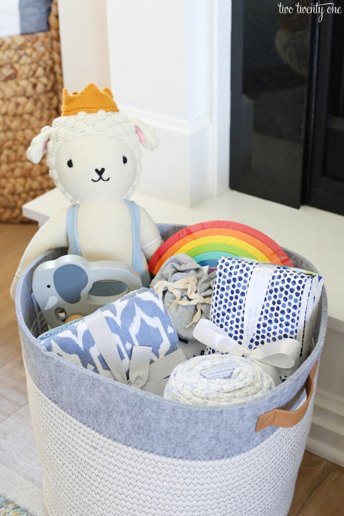 boy baby shower gift basket