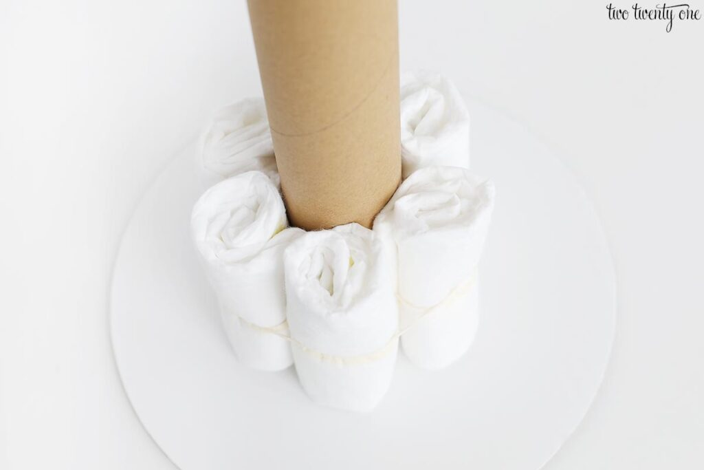 diaper cake construction