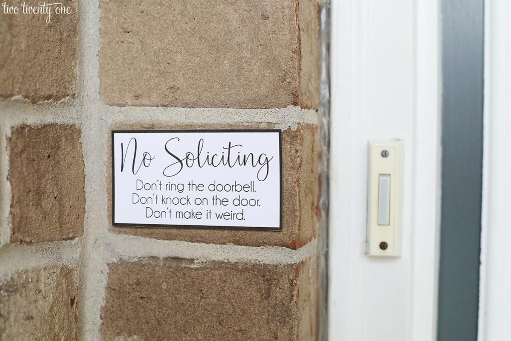 graphic about Free Printable Door Signs called No Soliciting Indicator - Free of charge Printable