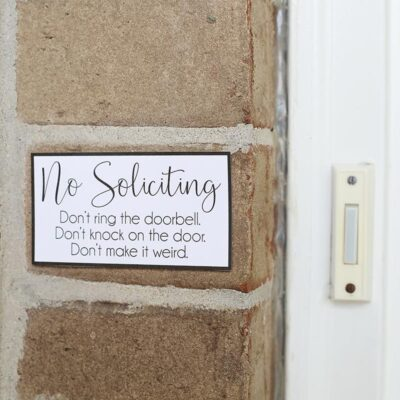 No Soliciting Sign – Free Printable