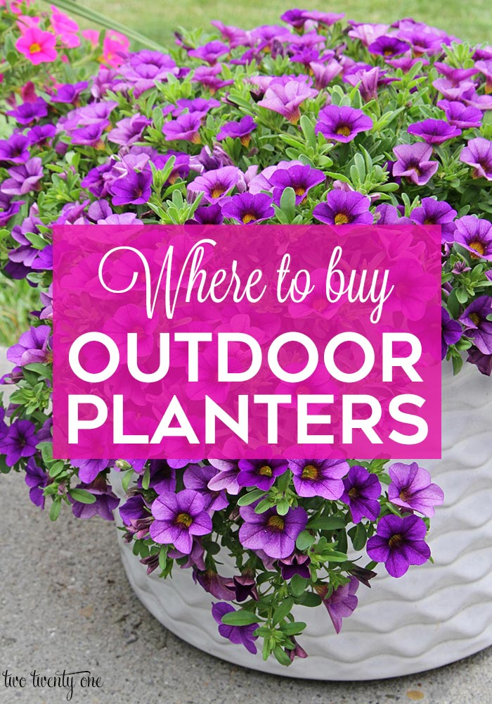 Where to buy outdoor planters!