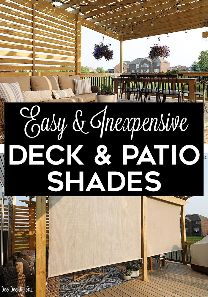 Deck and Patio Outdoor Shades