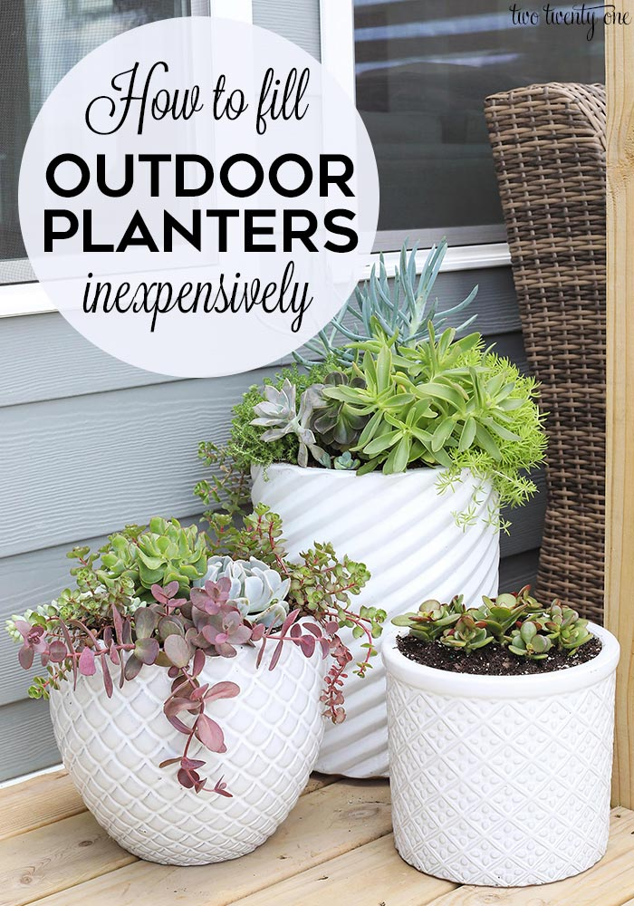 How to fill outdoor planters inexpensively