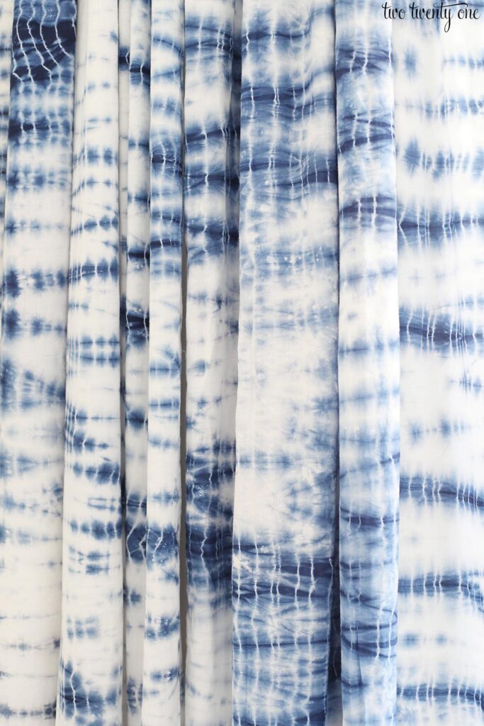 shibori curtains