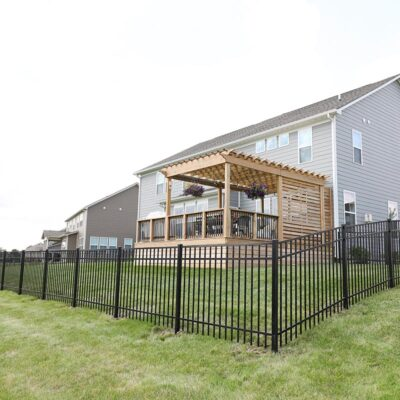 New Backyard Addition – Black Aluminum Fence