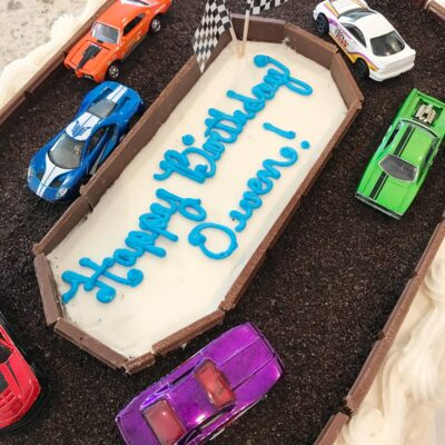 Race Car Cake – A Costco Cake Hack